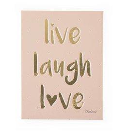 Childhome Childhome schilderij Live Laugh Love
