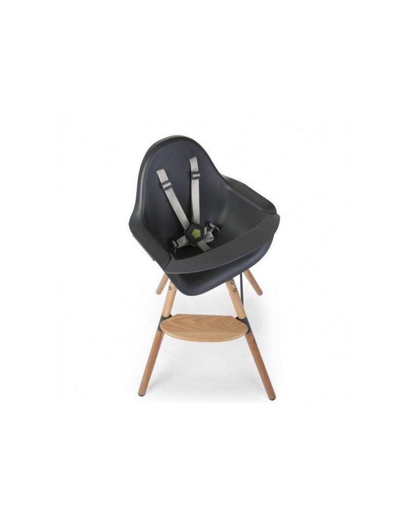 Childhome Childwood evolu ONE 80° stoel antraciet/naturel 2 in 1 + bumper