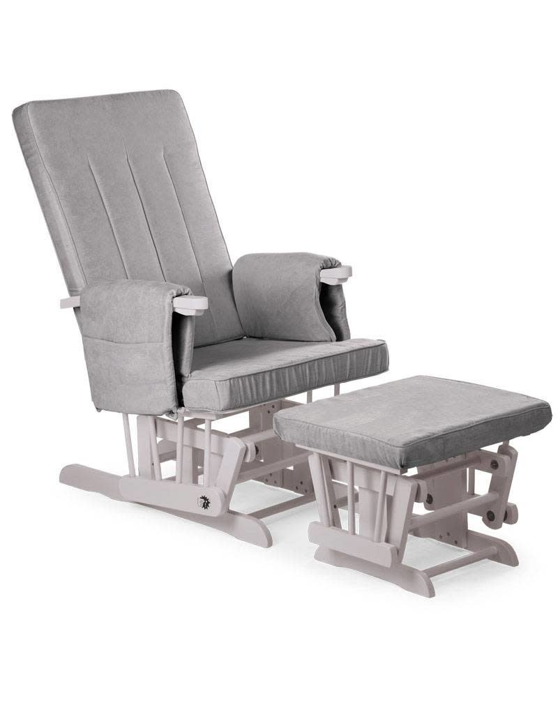 Childhome Childwood  gliding chair square stone grey + voetenbank