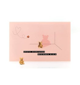 Leuke kaartjes Leuke kaartjes Luckies roze