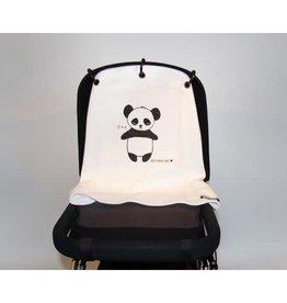 Kurtis Baby Peace Kurtis pram curtain panda zwart wit