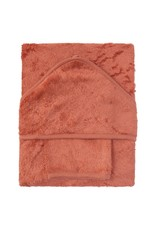 Timboo Timboo Badcape en washandje Apricot blush