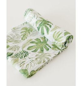 Little Unicorn Little Unicorn Swaddle cotton Tropical Leaf 120x120