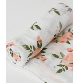 Little Unicorn Little Unicorn Swaddle cotton Watercolor Roses 120x120