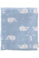 Fresk Fresk swaddle set 2 st 120x120 Whale Blue fog