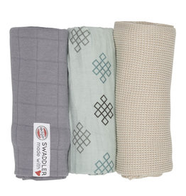 Lodger Lodger Swaddle Set Empire Knot Silt Green