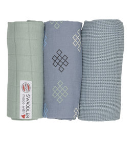 Lodger Lodger Swaddle Set Empire Knot Eau Blu