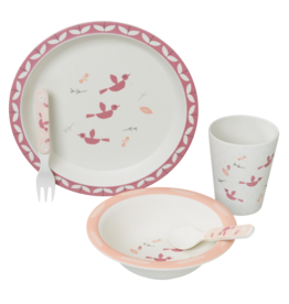 Fresk Fresk dinner set bamboo birds