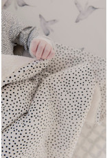 Mies & Co Mies & Co Baby Soft Teddy Blanket Cozy Dots Offwhite Print