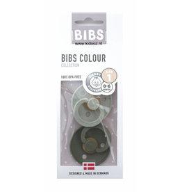 Bibs Bibs 2pack 0-6m sage/hunter green T1