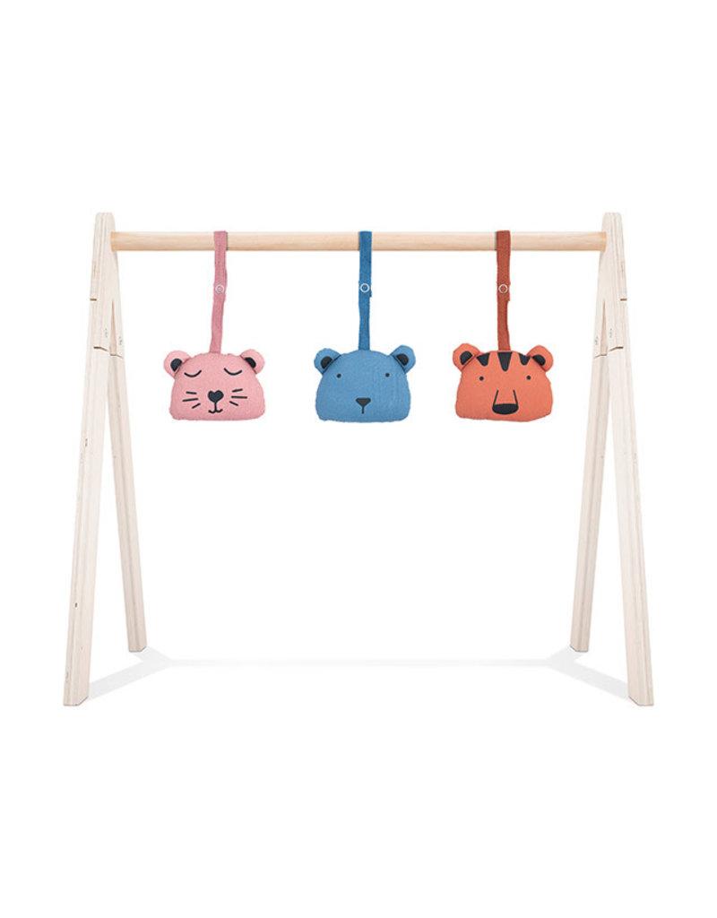 Jollein Jollein Babygym toys Animal club rouge (3pcs)