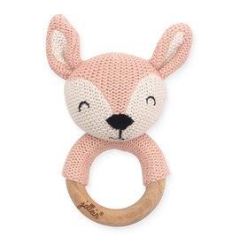 Jollein Jollein Bijtring Ø 7cm Deer pale pink