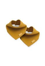 Jollein Jollein Slab bandana Brick velvet mustard 2pack