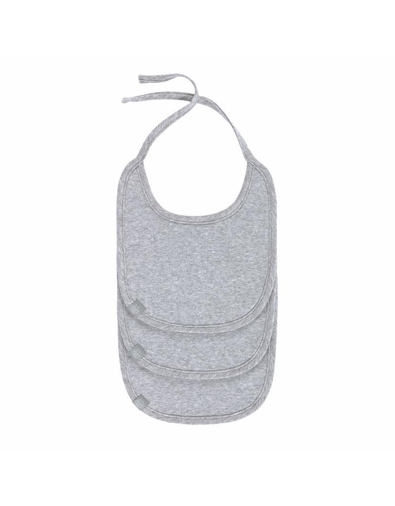 Lassig Lassig Babyslabbetje 3pack Grey Melange