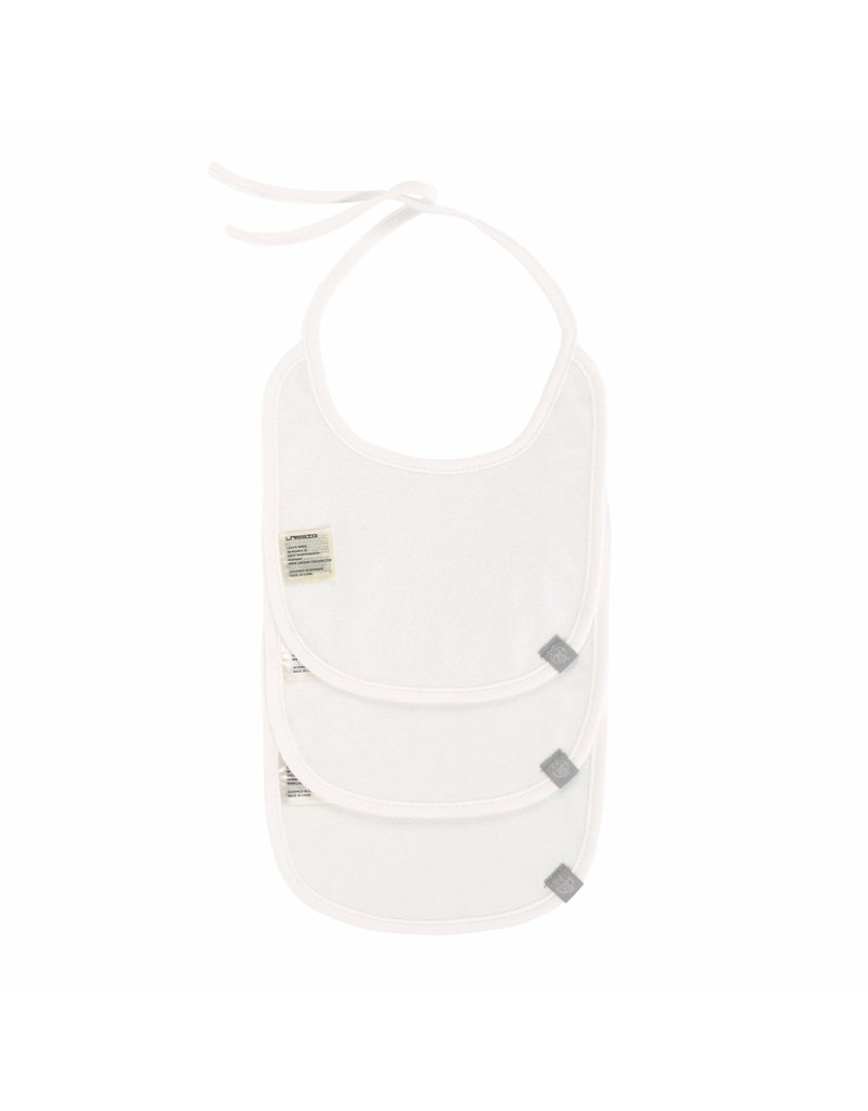Lassig Lassig Babyslabbetje 3pack White
