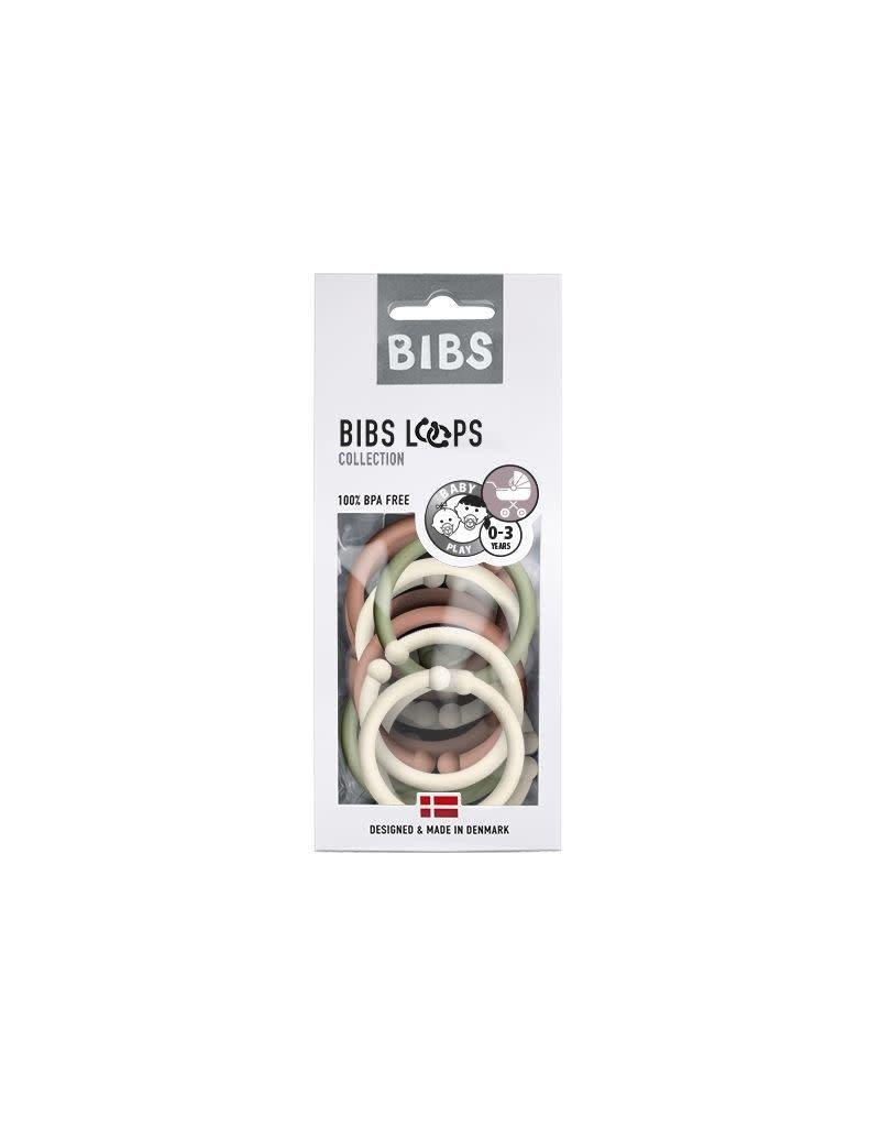 Bibs Bibs Loops ringen Mix Woodchuck/Sage/Ivory 12st