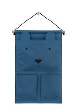 Jollein Jollein Wandorganizer Canvas Animal club steel blue