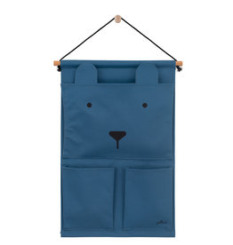 Jollein Jollein Wandorganizer Canvas Animal club steel blue