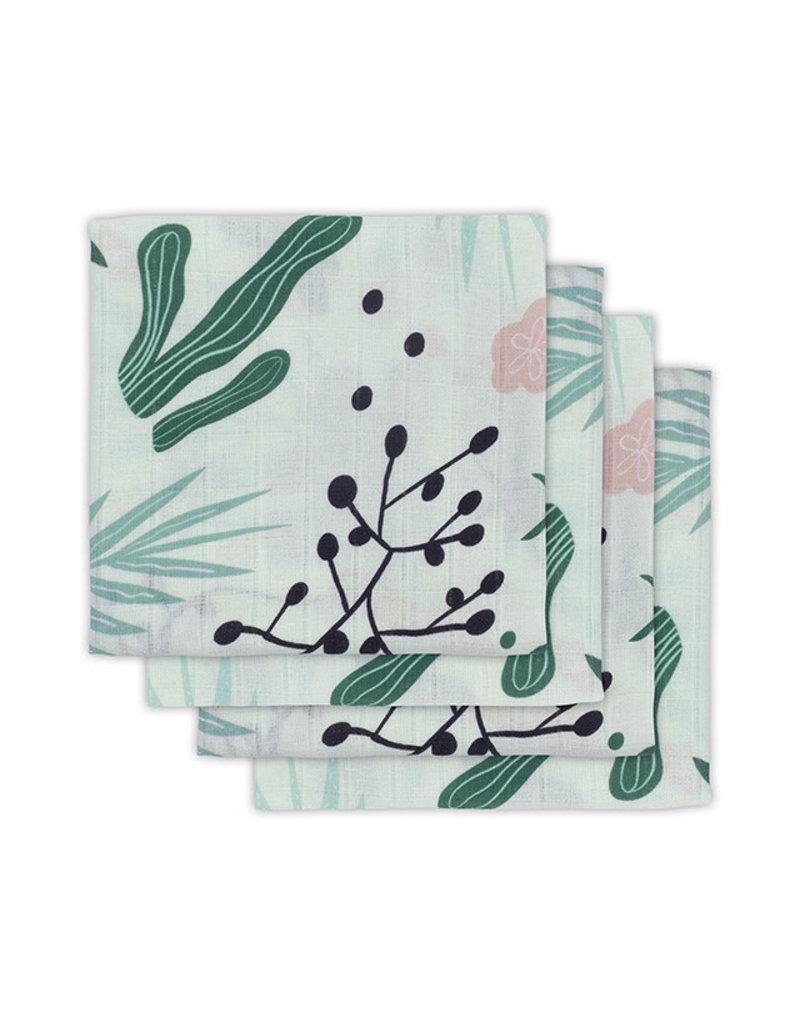 Jollein Jollein Tetradoeken Leaves (4pack)