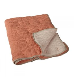 Quax Quax Natural Quilted Blanket Abricot/ecru