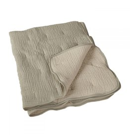Quax Quax Natural Quilted Blanket Grey/ecru