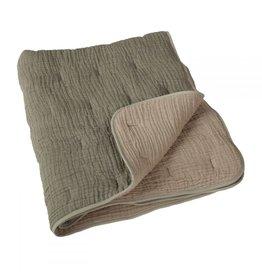 Quax Quax Natural Quilted Blanket Khaki/beige