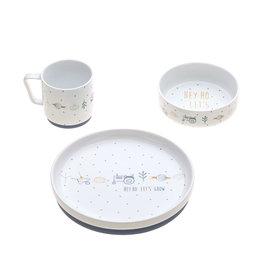 Lassig Lassig Dish Set Porcelain/Silicone Garden Explorer Blue