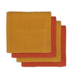 Jollein Jollein tetradoeken bamboe mustard/rust