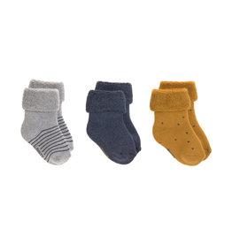 Lassig Lassig Newborn Socks Blue 3stks
