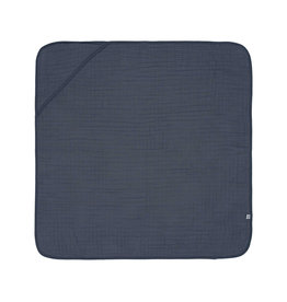 Lassig Lassig Muslin hooded towel Navy