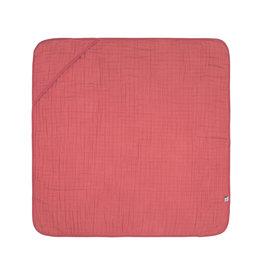 Lassig Lassig Muslin hooded towel Rosewood