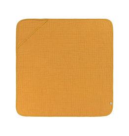 Lassig Lassig Muslin hooded towel Mustard