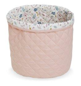 CamCam Copenhagen Cam Cam Quilted Storage Basket Medium OCS Blossom Pink