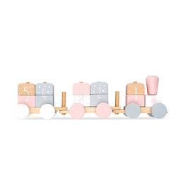 Jollein Jollein Speelgoedtrein white/pink