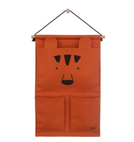 Jollein Jollein Wandorganizer Canvas Animal club rust