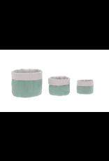 Lassig Lassig Storage Basket set Muslin Green 3stk