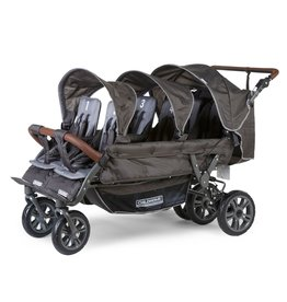 Childhome Childhome six seater buggy + autobrake 6 kinderen antraciet