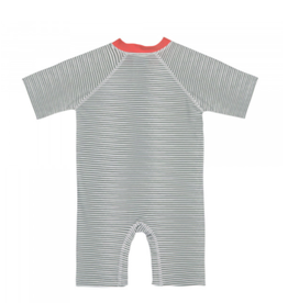 Lassig Lässig Short Sleeve Sunsuit Striped coral