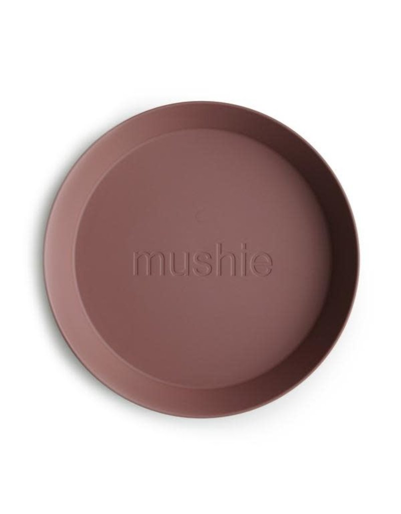 Mushie Mushie Plate Round Woodchuck set