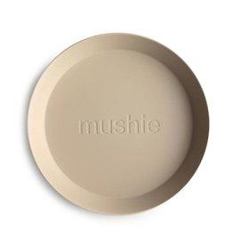 Mushie Mushie Plate Round Vanilla set