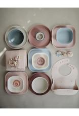 Mushie Mushie Plate Square Blush set