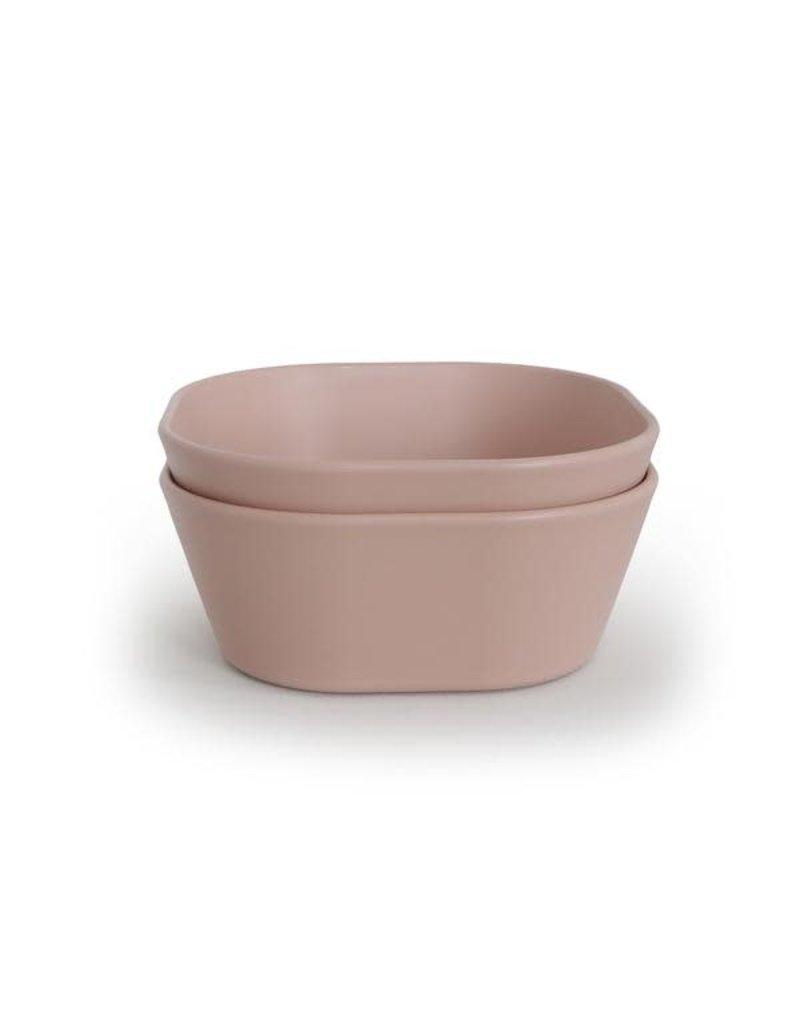 Mushie Mushie Bowl Square Blush set