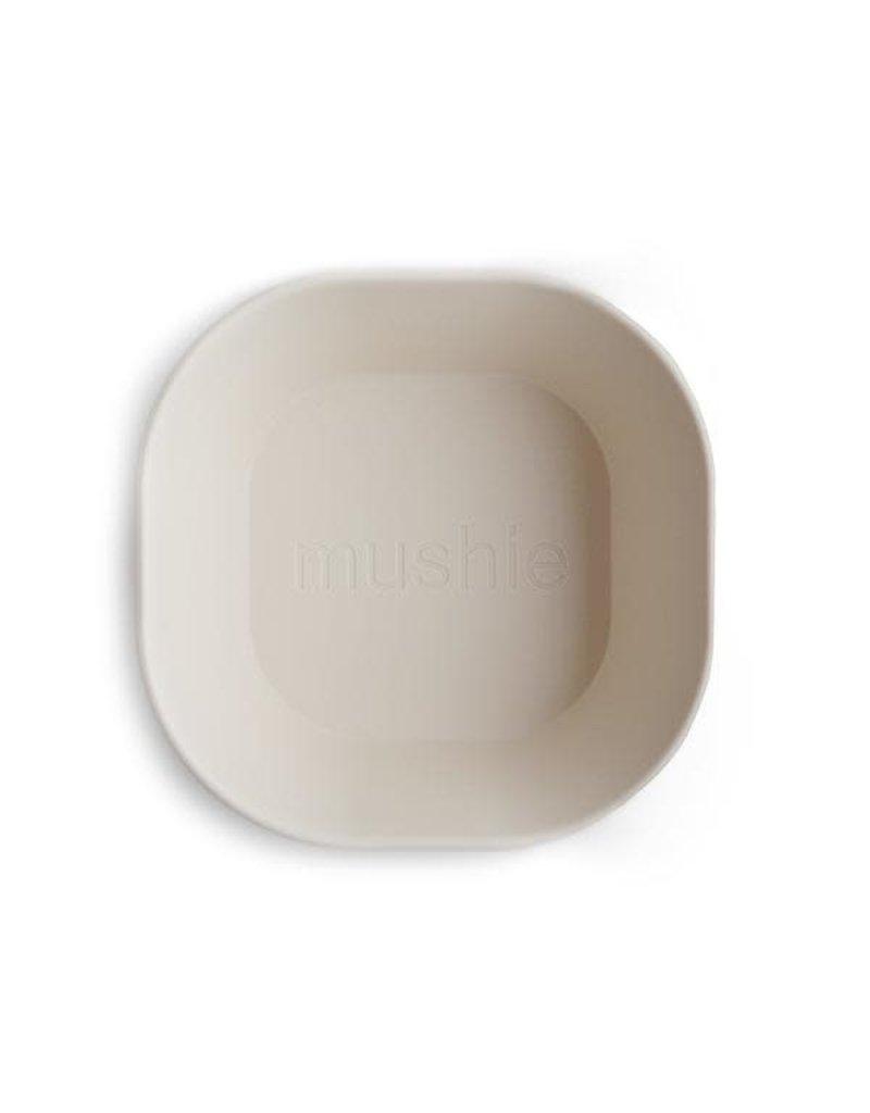 Mushie Mushie Bowl Square Ivory set