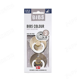 Bibs Bibs 2pack 0-6m Glow in the Dark Vanilla/Dark Oak T1