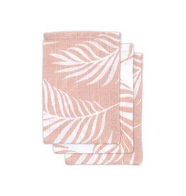 Jollein Jollein tetrawashandjes Nature pale pink (3st)