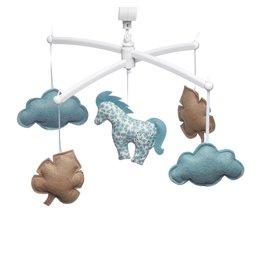 Pouce et Lina Pouce et Lina mobiel Pony bleu et camel