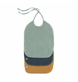 Lassig Lassig medium bib green/navy/mustard 3 pack
