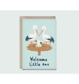 Kathings Kathings kaartje Stork Family Little One