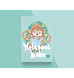 Kathings Kathings kaartje Baby Squirrel