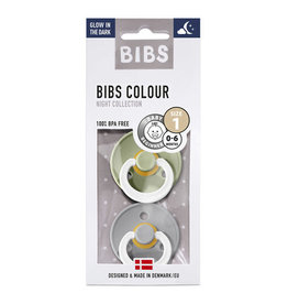 Bibs Bibs 2pack 0-6m Glow in the Dark Sage/cloud T1